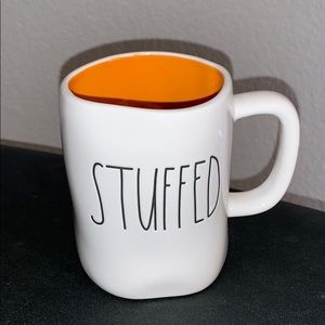 "• ""STUFFED"" mug   Rae Dunn."
